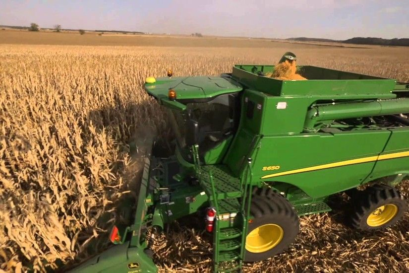 2014 NEW John Deere Series Combine S550 S650 S660 S670 S680 S690 Cross  Implement www.crossimp.com - YouTube