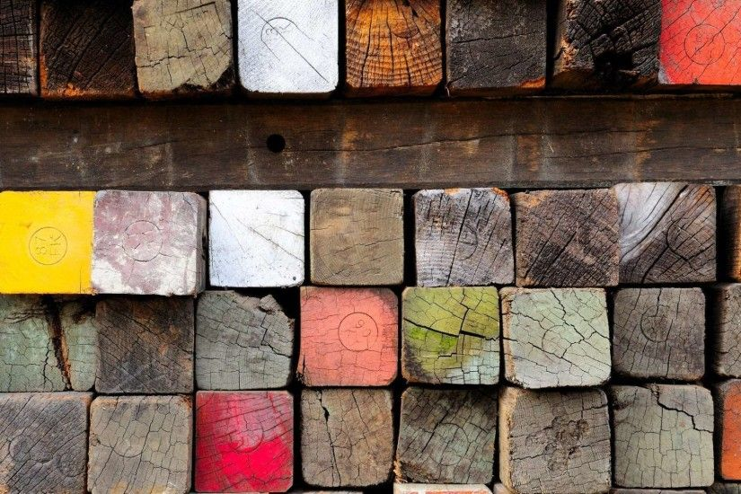 Wood Lumber Paint Many Hd Wallpaper 1080p | HDWallWide