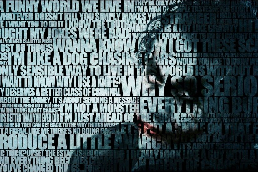 batman dc comics the joker typography heath ledger the dark knight – Dark  Wallpapers