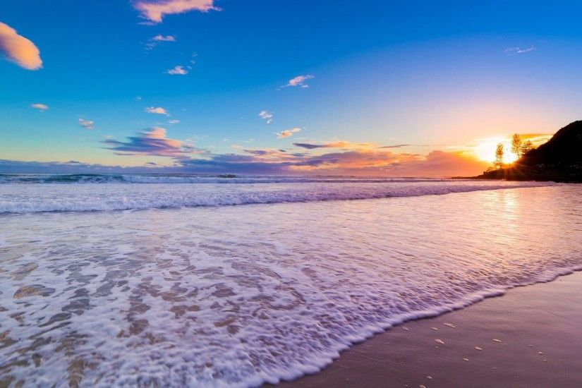 awesome beach sunset image wallpaper