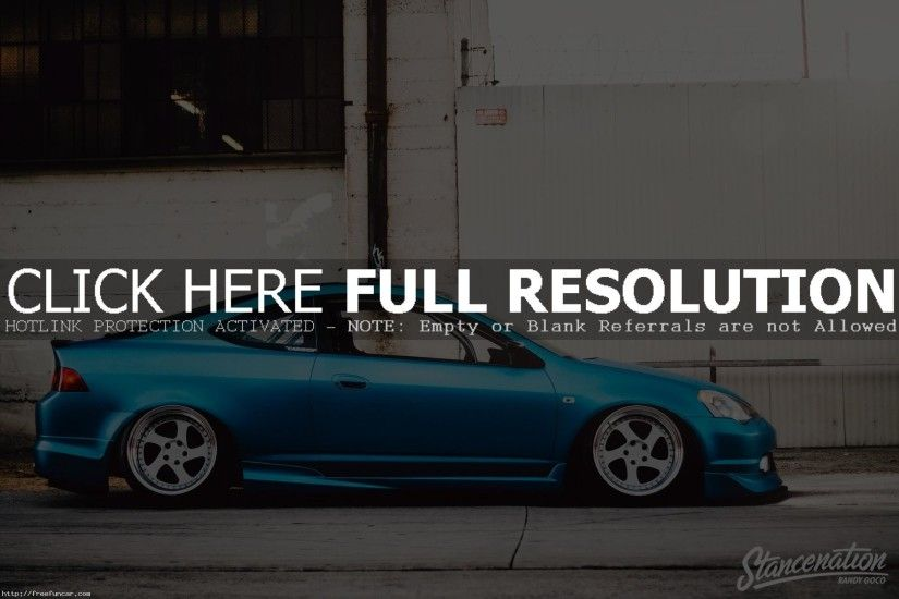 Blue Acura RSX Type S Side View HD Wallpaper
