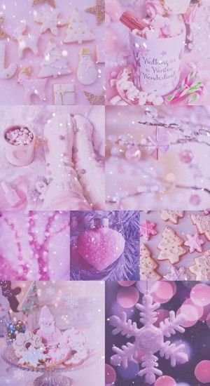 xmas, Christmas, pink, pretty, sparkly, glitter, white, iPhone, · Purple  WallpaperMobile WallpaperCute ...