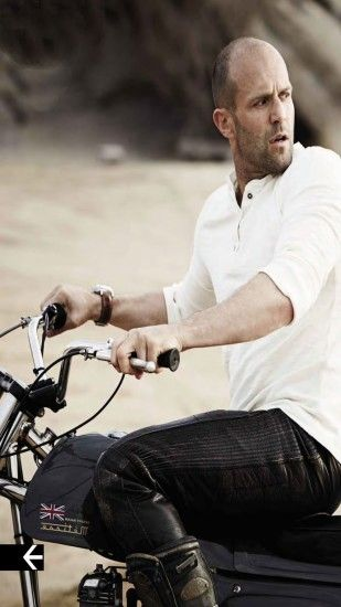 jason statham with bike iphone 5s high resolution