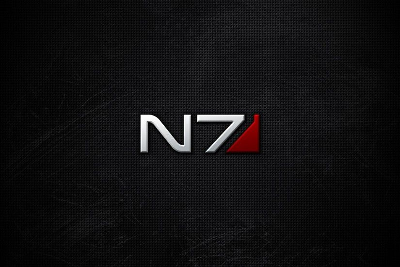 Preview wallpaper mass effect, n7, font, background, shadow 3840x2160