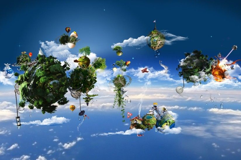 Amazing 3D Cloud And Nature Wallpape…