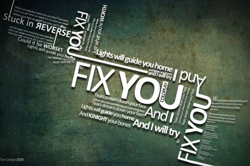 Download: Fix You HD Wallpaper