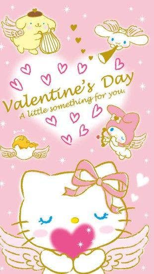 1200x2130 Valentine Wallpaper, Phone Wallpapers, Wallpaper Backgrounds,  Sanrio, Hello Kitty, Kitty