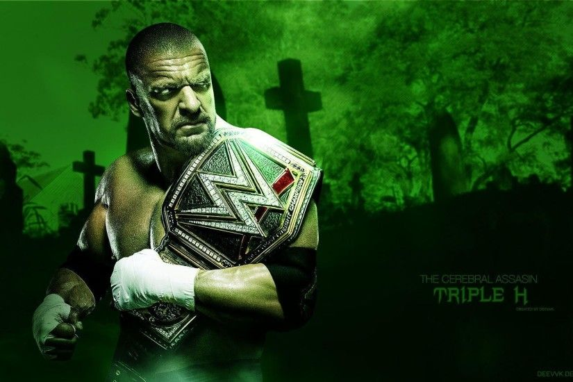 DeviantArt: More Like Triple H WWE Champion 2016 HD Wallpaper by .