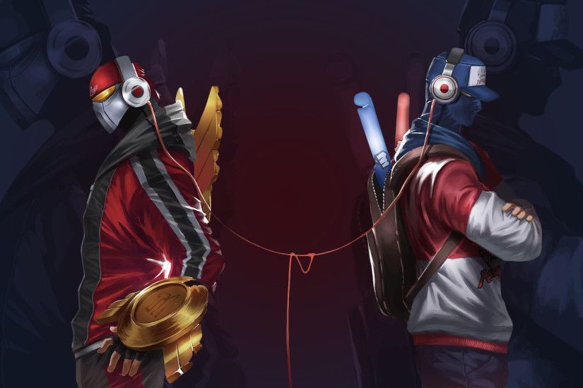 Zed and Shen Wallpaper by Toemass202 Zed and Shen Wallpaper by Toemass202