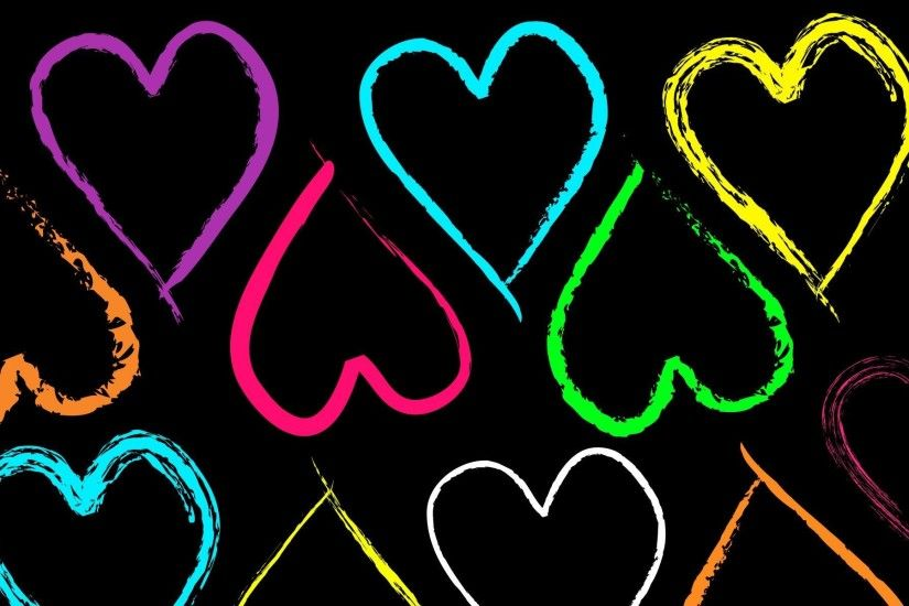free neon heart wallpaper hd full hd colourful download wallpapers quality  images computer wallpapers cool best artwork 1920×1200 Wallpaper HD