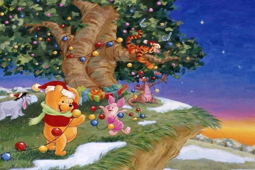 Xmas Stuff For > Baby Winnie The Pooh Christmas Wallpaper