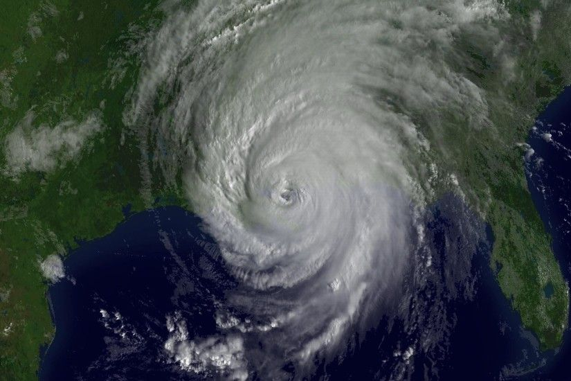 The Fibonacci spiral - Hurricane Katrina approaching Gulf Coast, Chinese  FY-1 meteorological satellite