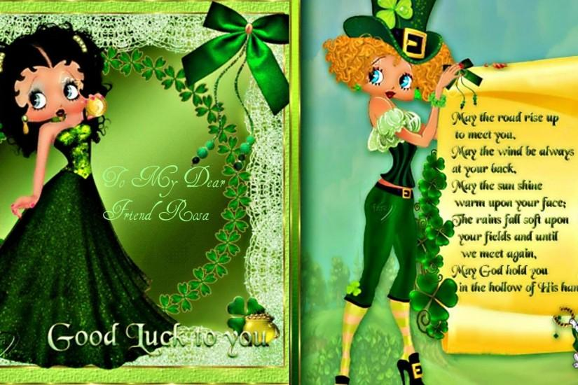 Betty Boop St Patricks Day Wallpaper