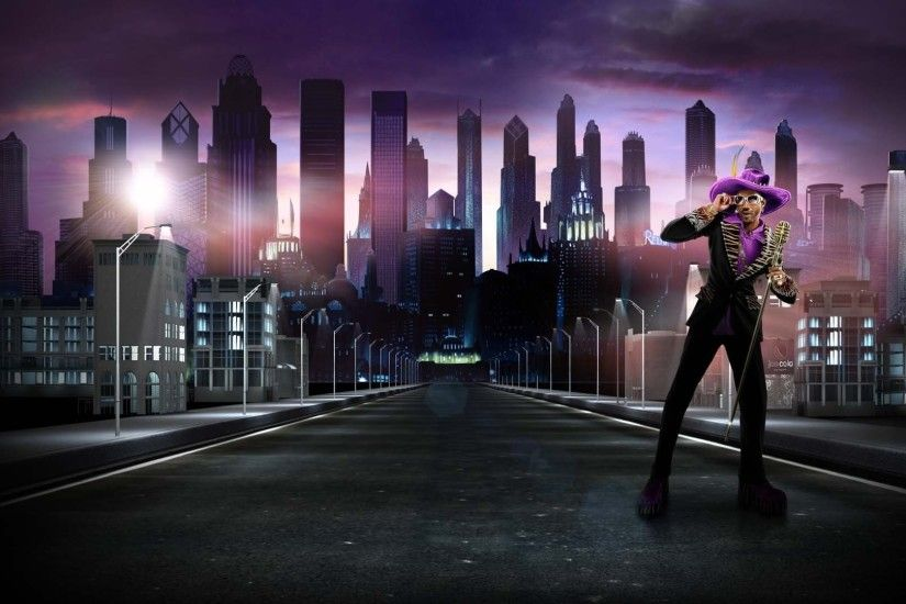 1920x1080 Wallpaper saints row, character, road, city, night