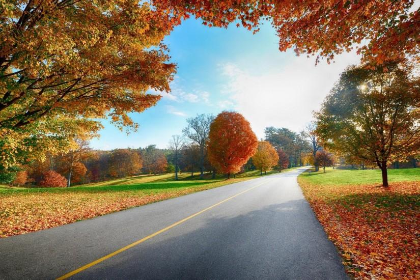 Country Road Autumn Desktop Wallpapers.