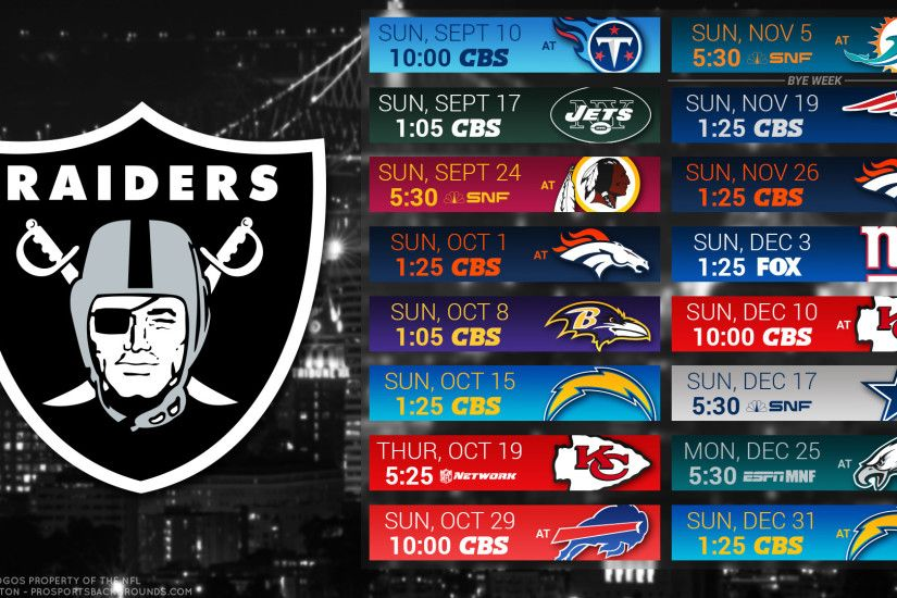 Oakland Raiders 2017 schedule city football logo wallpaper free pc desktop  computer ...