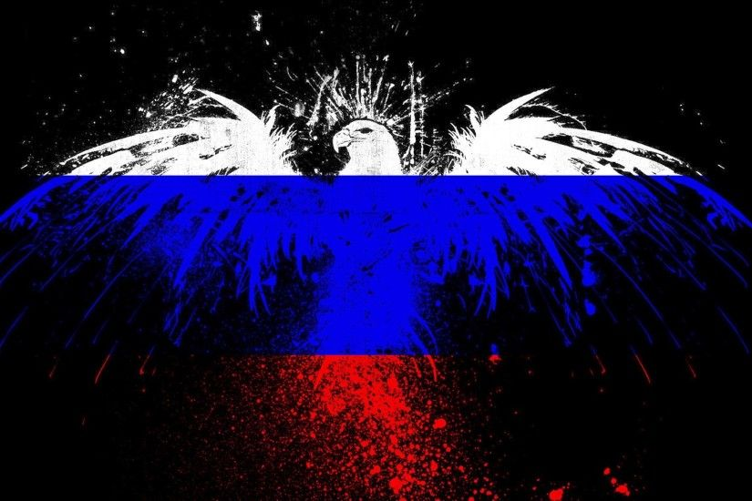 eagle spray paint flag of the russian federation