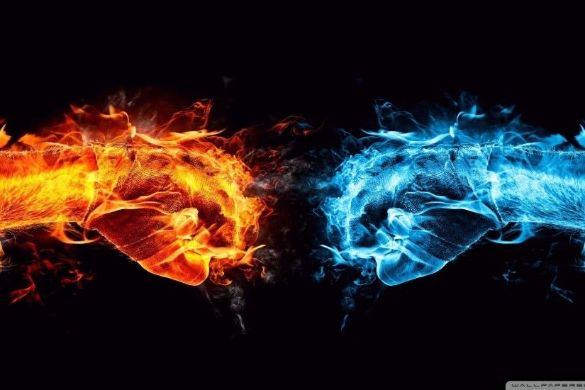 fire and ice wallpaper for desktop background, 2048x1152 (359 kB)