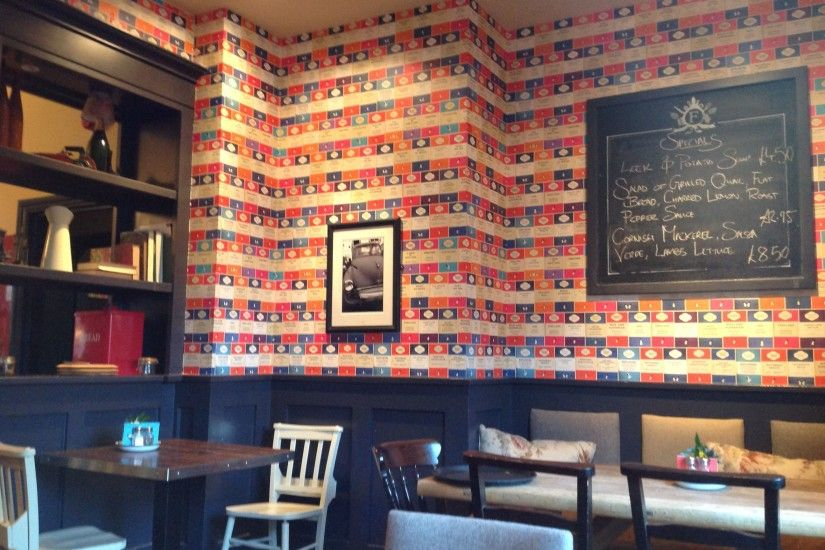 Penguin Book Classics Wallpaper! This is at a pub in Vauxhall called The  Fentiman Arms - we have our creative writing group meetings there - the  wallpaper ...