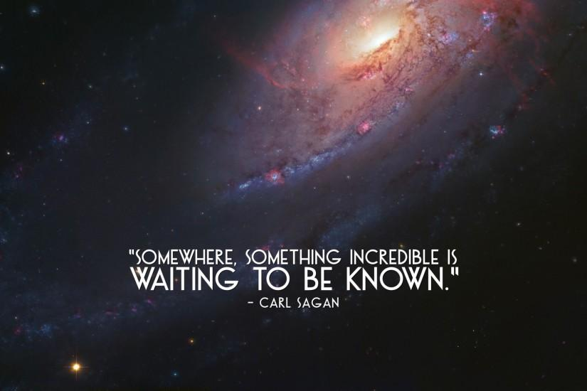 Carl Sagan quote wallpaper