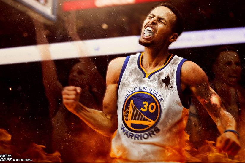 Stephen Curry On Fire 2880×1800 Wallpaper