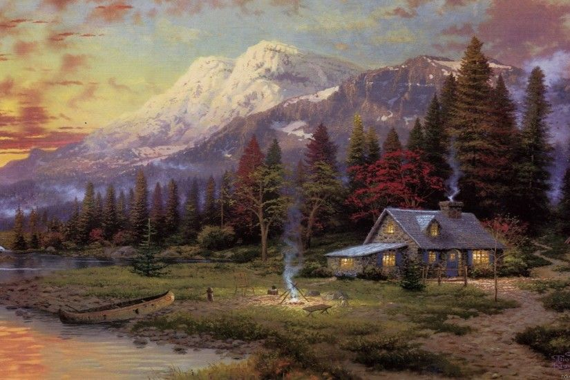 Paintings of Thomas Kinkade Free Desktop Backgrounds