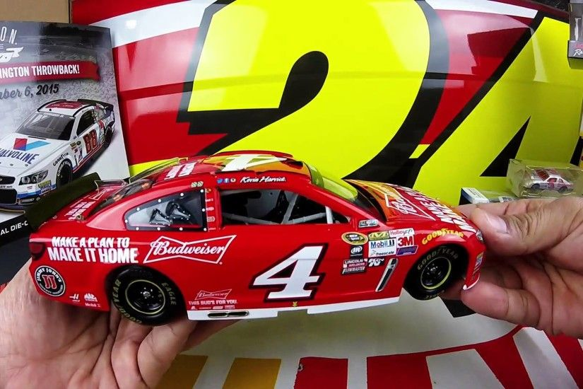 Unbxoing the 2015 Kevin Harvick #4 Make a Plan 1/24 NASCAR Diecast - YouTube