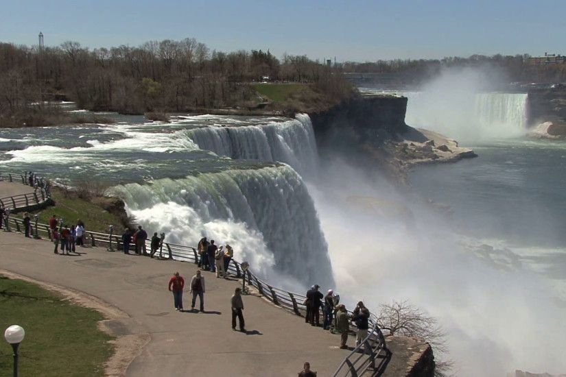 Niagara Falls Seen from Prospect Point Stock Video Footage - VideoBlocks