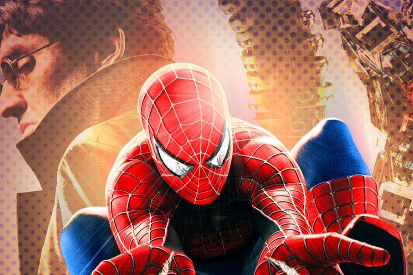 Movie - Spider-Man 2 Spider-Man Doctor Octopus Alfred Molina Tobey Maguire  Wallpaper