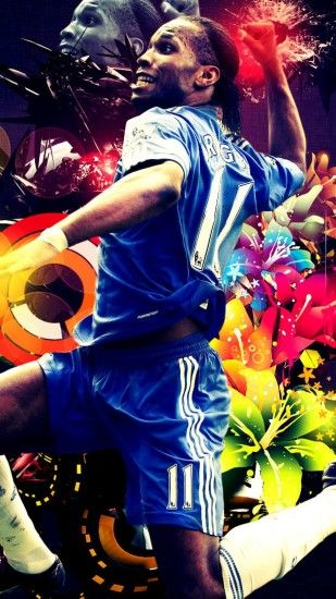1440x2560 Wallpaper didier drogba, football, chelsea, logo
