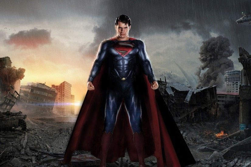 Man Of Steel Superman Between The Ruins for 1920x1080