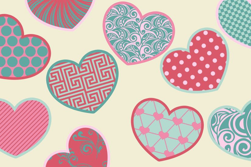 Colorful Hearts Wallpaper HD #n8R
