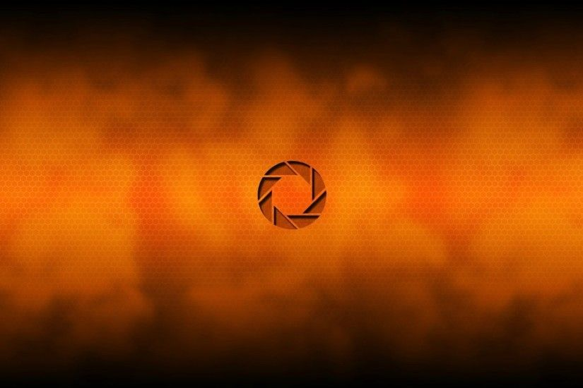 Logo Aperture Science, orange background