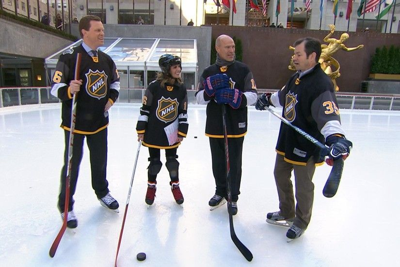 NHL stars Mark Messier and Mike Richter hit the ice at 30 Rock - NBC News