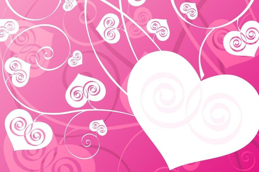 Pink Love hearts PPT Backgrounds Template for Presentation - PPT .