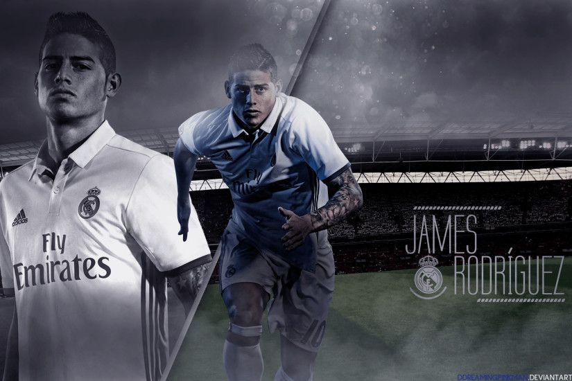 ... Here is Design picture parts of James Rodriguez 2016/17 Wallpaper By  DDreamingPinkman On DeviantArt