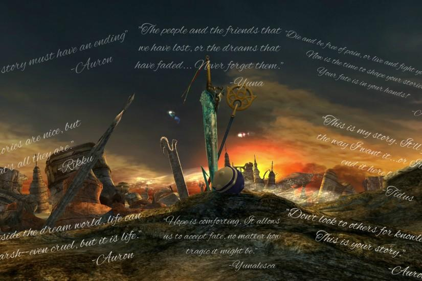 ... Final Fantasy X Wallpaper (Quotes) by Kaet125