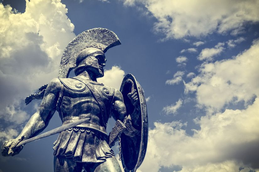 Man Made - Statue Warrior Sparta History Greek Wallpaper