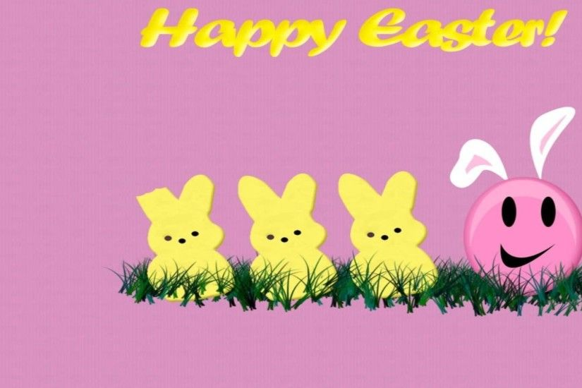 Happy easter pink theme free desktop background - free wallpaper image