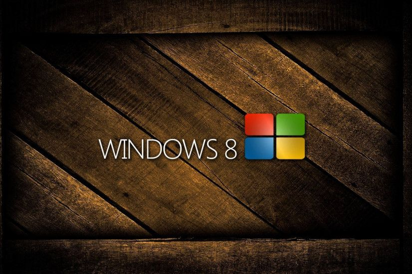 Preview wallpaper windows 8, logo, wooden, colorful 1920x1080