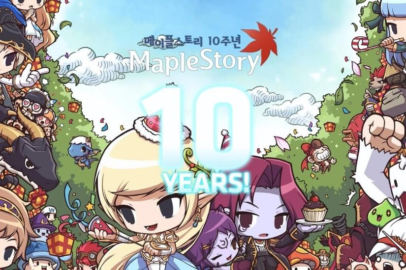 MAPLESTORY mmo online rpg scrolling fantasy 2-d family maple story wallpaper