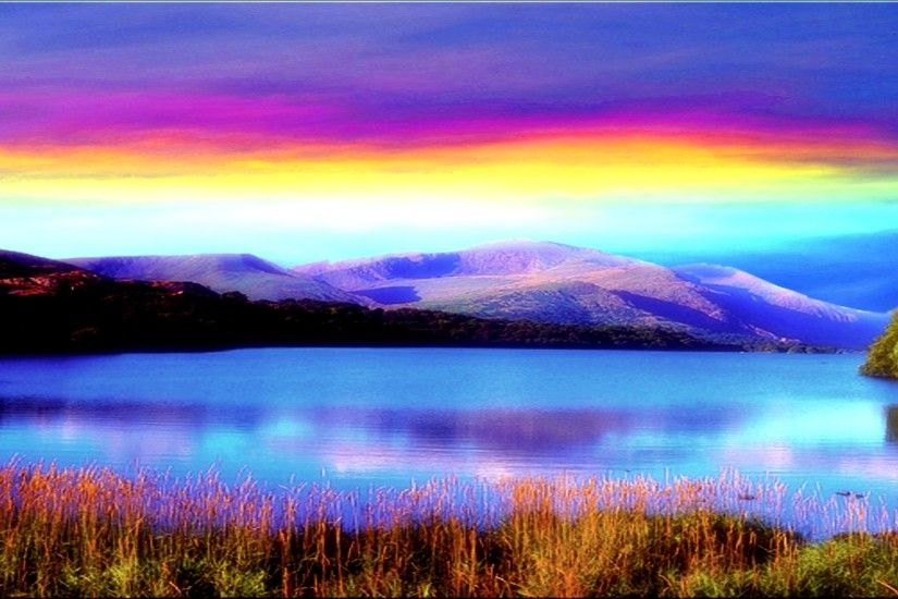 Rainbow Sky Desktop Background | Beautiful Rainbow In Lake Wallpaper  Photograph #1417 Wallpaper | High
