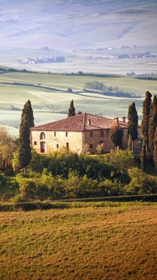 1440x2560 Wallpaper italy, tuscany, summer, countryside, landscape, nature,  trees,