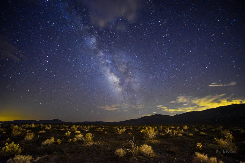 Milky way in desert.