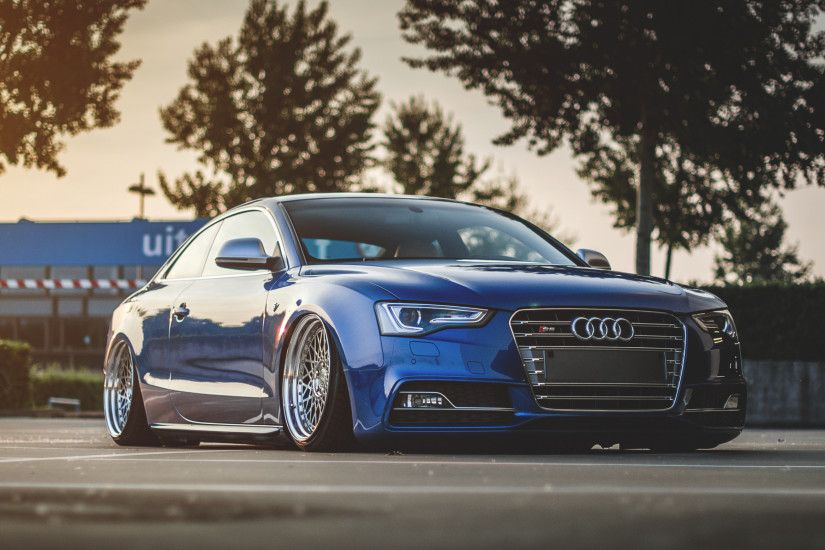 Preview wallpaper audi, s5, tuning, wheels, side view 3840x2160