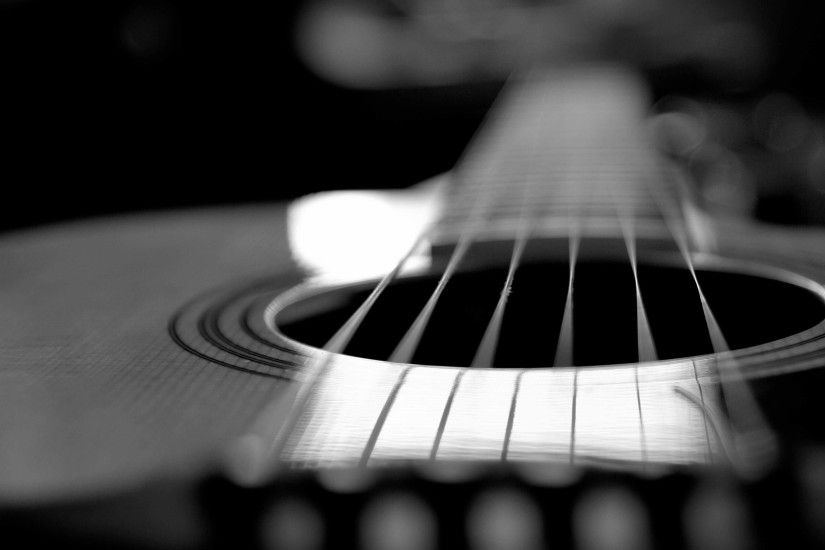 Download Wallpaper 3840x2400 Guitar, Strings, Surface, Black and .