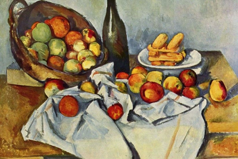 Painting Cezanne - Food wallpapers and images - wallpapers .