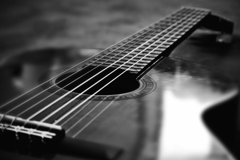 Black And White Guitar Macro Wallpapers - 1920x1080 - 269684