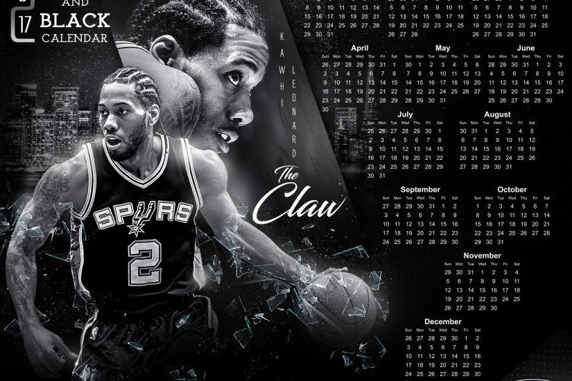 tmaclabi 5 4 Spurs Calendar 2017 Black and White by tmaclabi