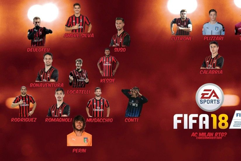 "CareerModeStars on Twitter: ""Potential #FIFA18 AC Milan Squad! Who will be  doing a career save with the rossoneri? https://t.co/7fw9WFh4Dk"""